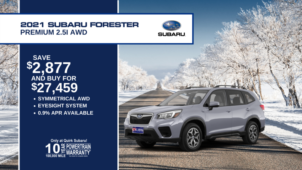 Save $2,877 and Buy 2021 Subaru Forester Premium For $27,459