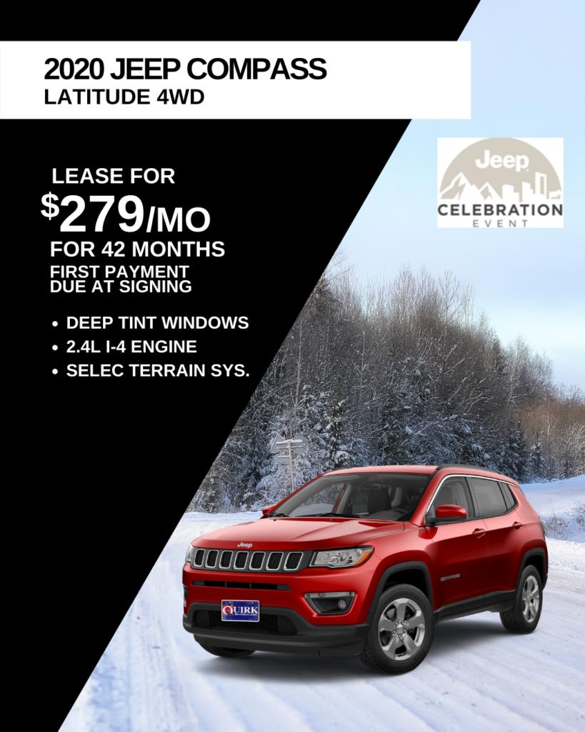 New 2020 Jeep Compass Latitude 4WD