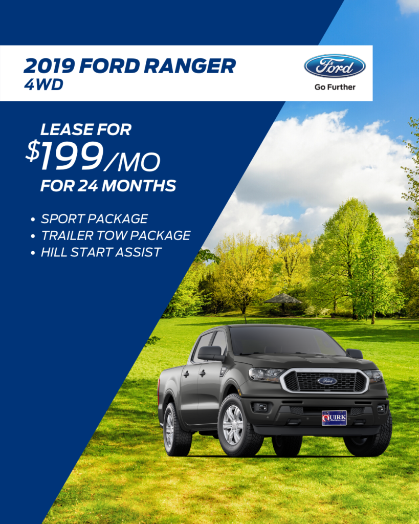 New 2019 Ford Ranger 4WD