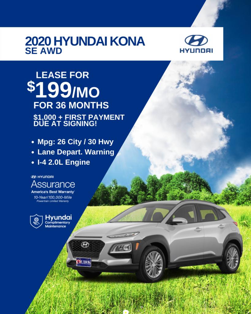 New 2020 Hyundai Kona SE AWD