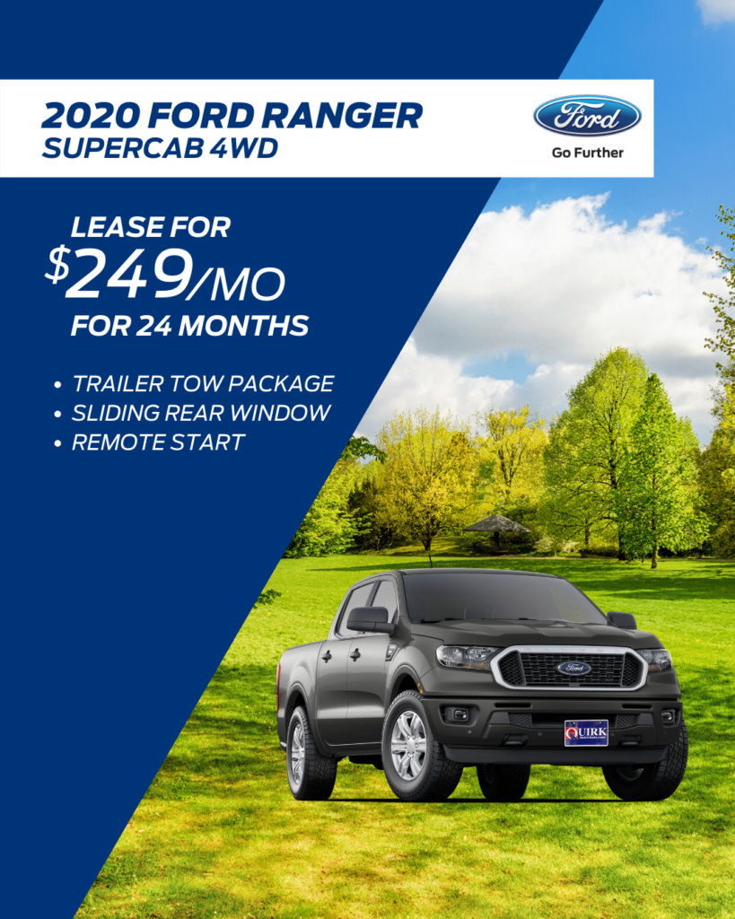 New 2020 Ford Ranger XL 4WD