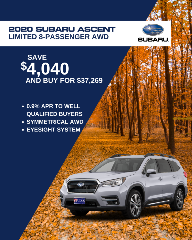 Save $4,040 and Buy 2021 Subaru Ascent 2.4T Limited 7 passenger For $37,269