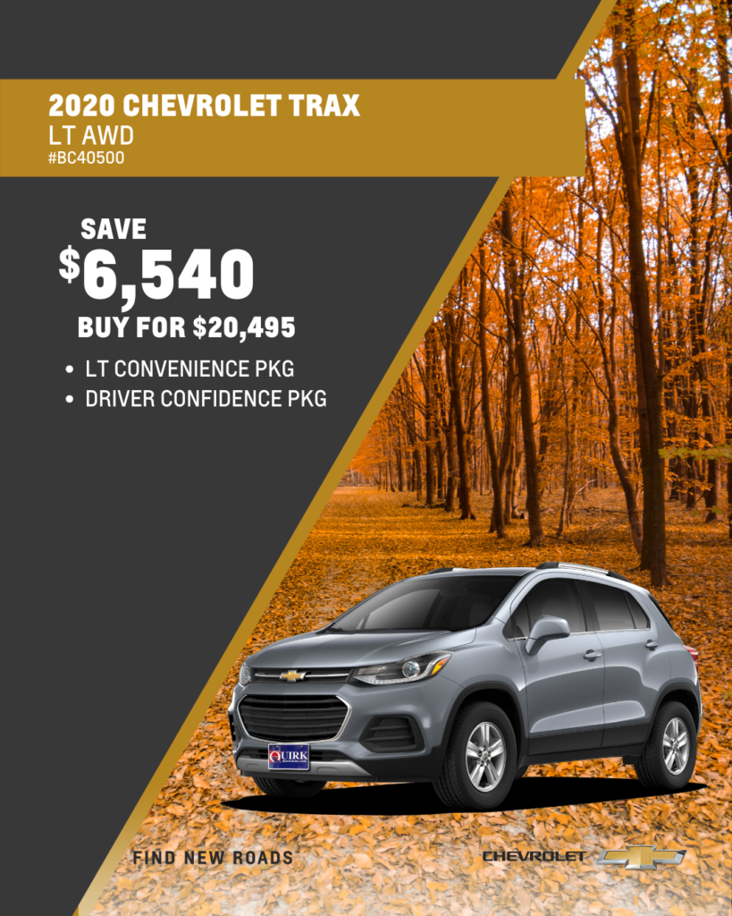 Save $6,540 and Buy 2020 Chevy Trax LT AWD SUV For $20,495