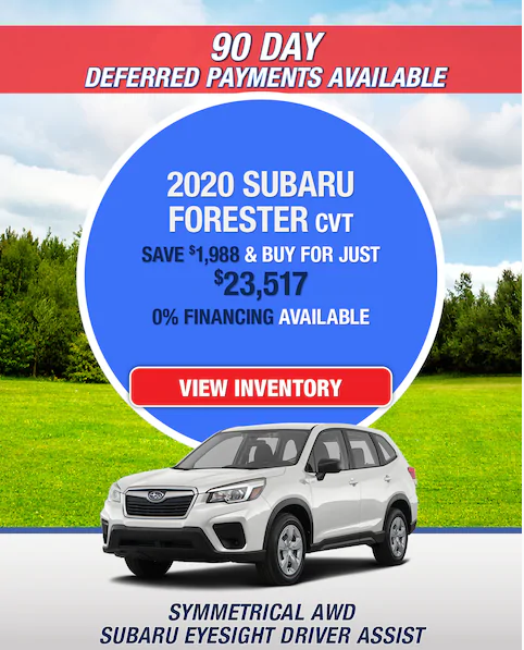 New 2020 Subaru Forester AWD