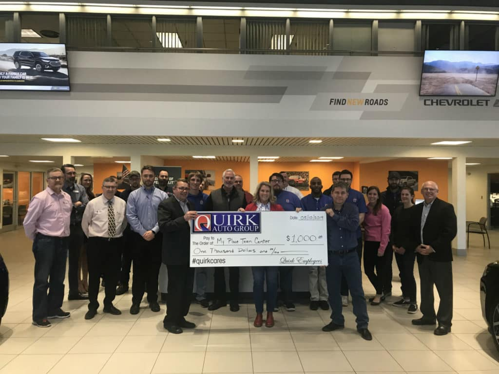 Cars By Us >> Quirk Portland Employees Make 1 000 Donation To My Place