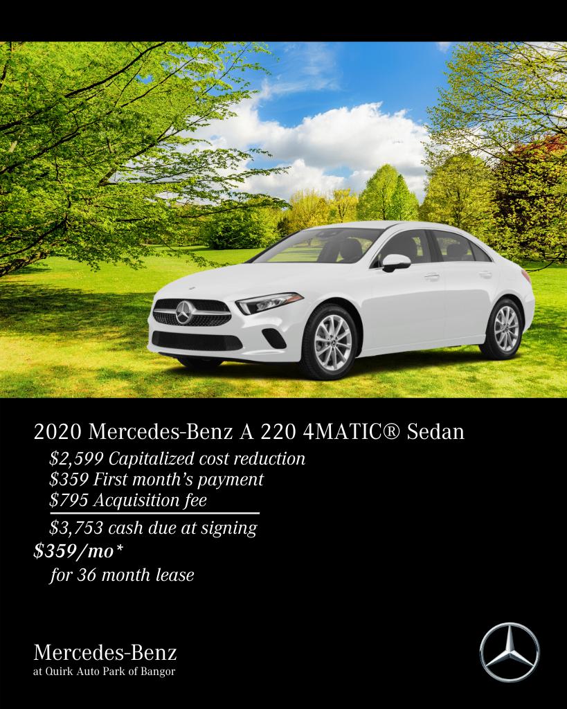 New 2020 Mercedes-Benz A-Class A 220 AWD 4MATIC®
