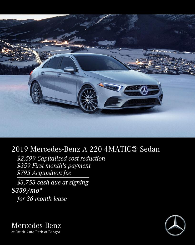 New 2019 Mercedes-Benz A-Class A 220 AWD 4MATIC®