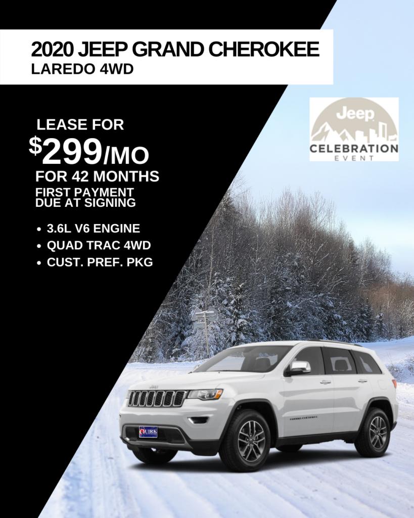 New 2020 Jeep Grand Cherokee Laredo E 4WD
