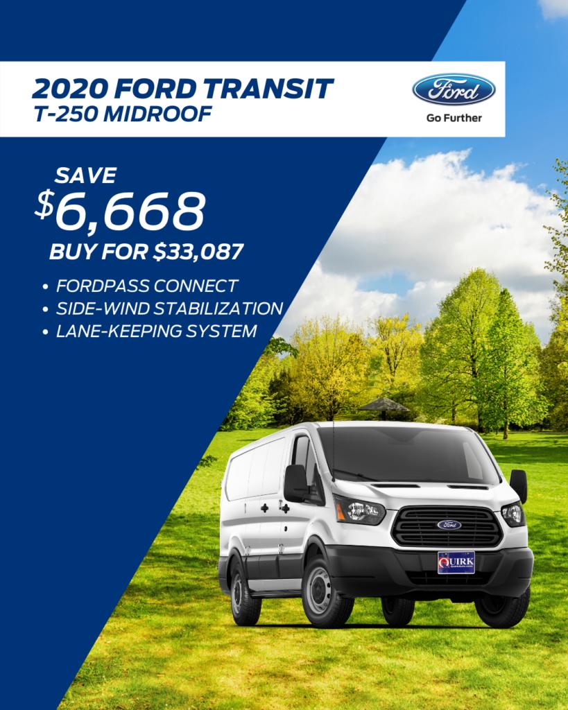 New 2020 Ford Transit Van RWD Full-size Cargo Van