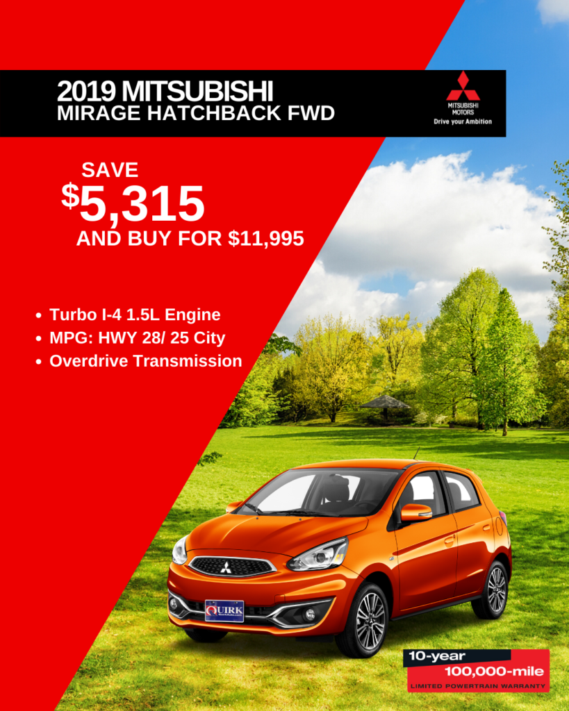 New 2019 Mitsubishi Mirage G4 ES FWD Hatchback