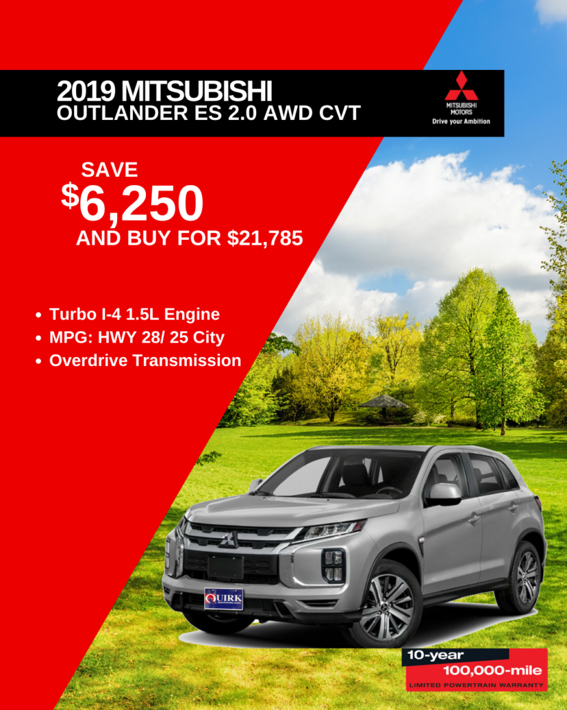 New 2020 Mitsubishi Outlander ES 4WD