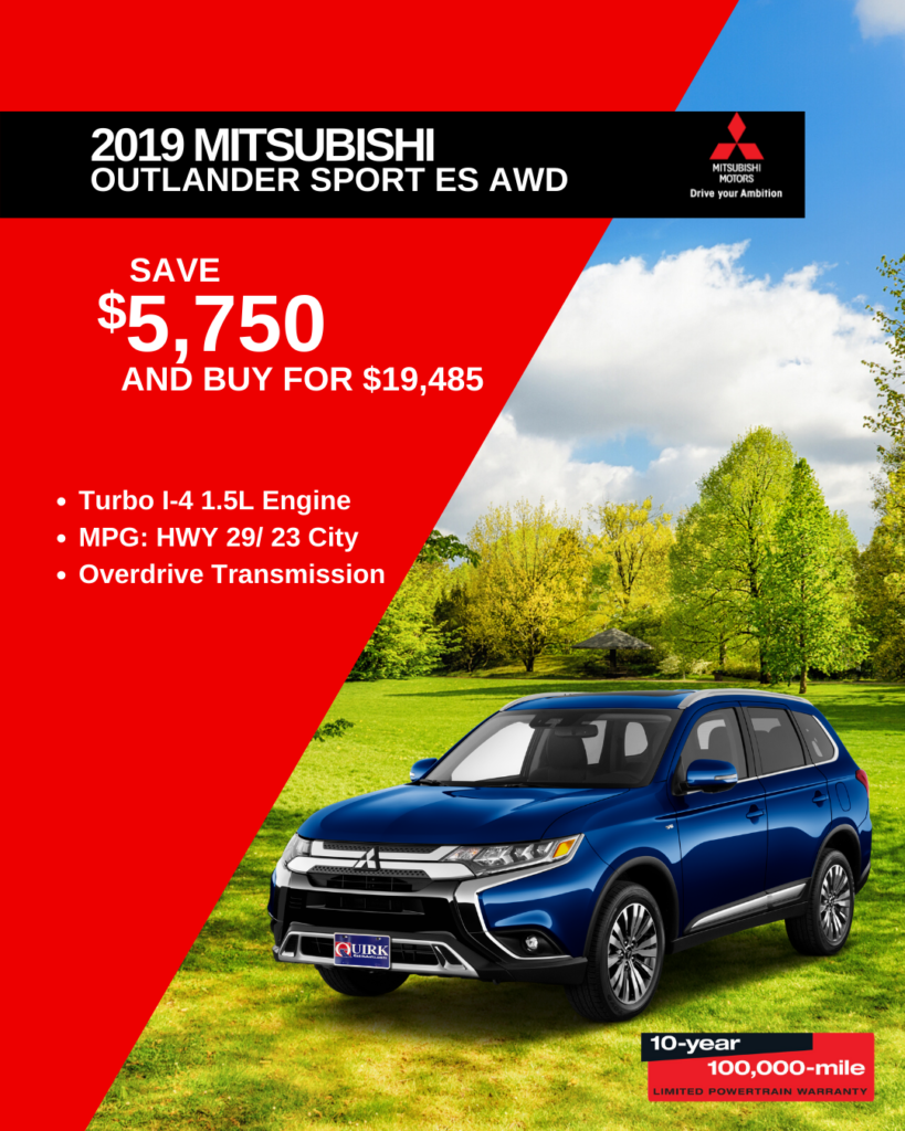 New 2020 Mitsubishi Outlander Sport ES 2.0 4WD