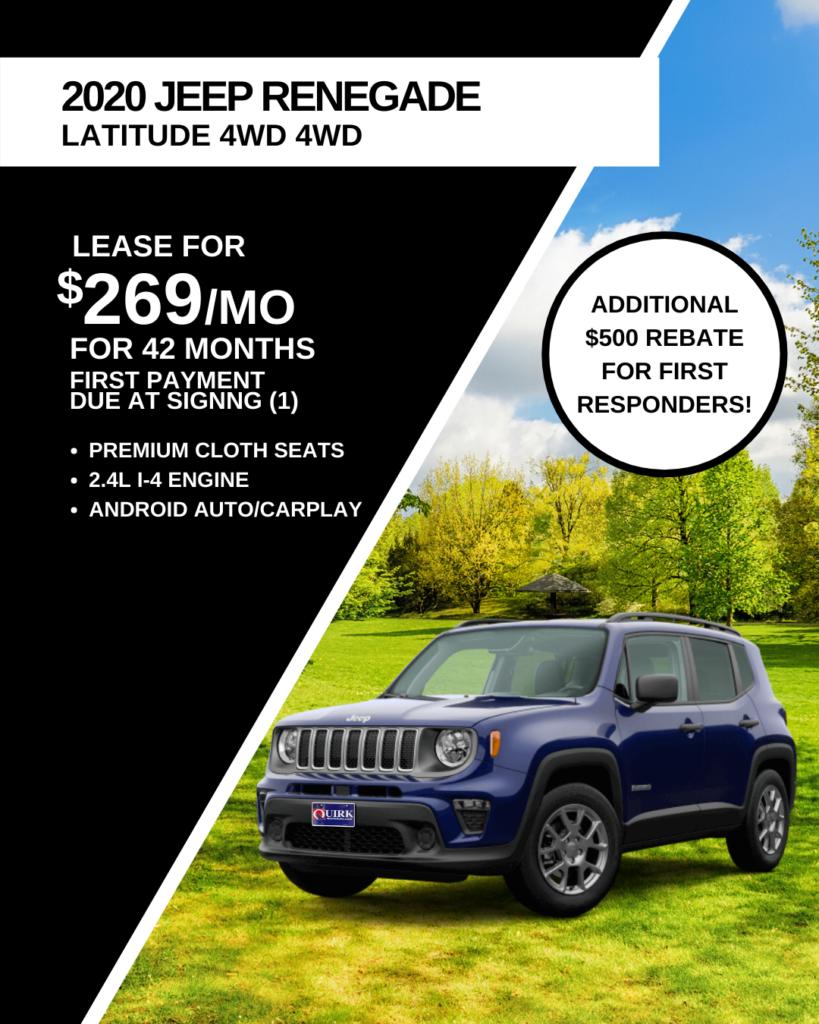 New 2020 Jeep Renegade Latitude 4WD