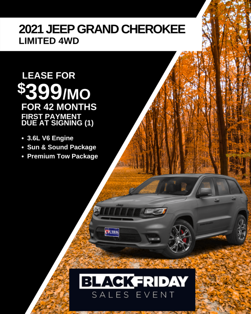 Black Friday Special: New 2021 Jeep Grand Cherokee Limited With Navigation & 4WD