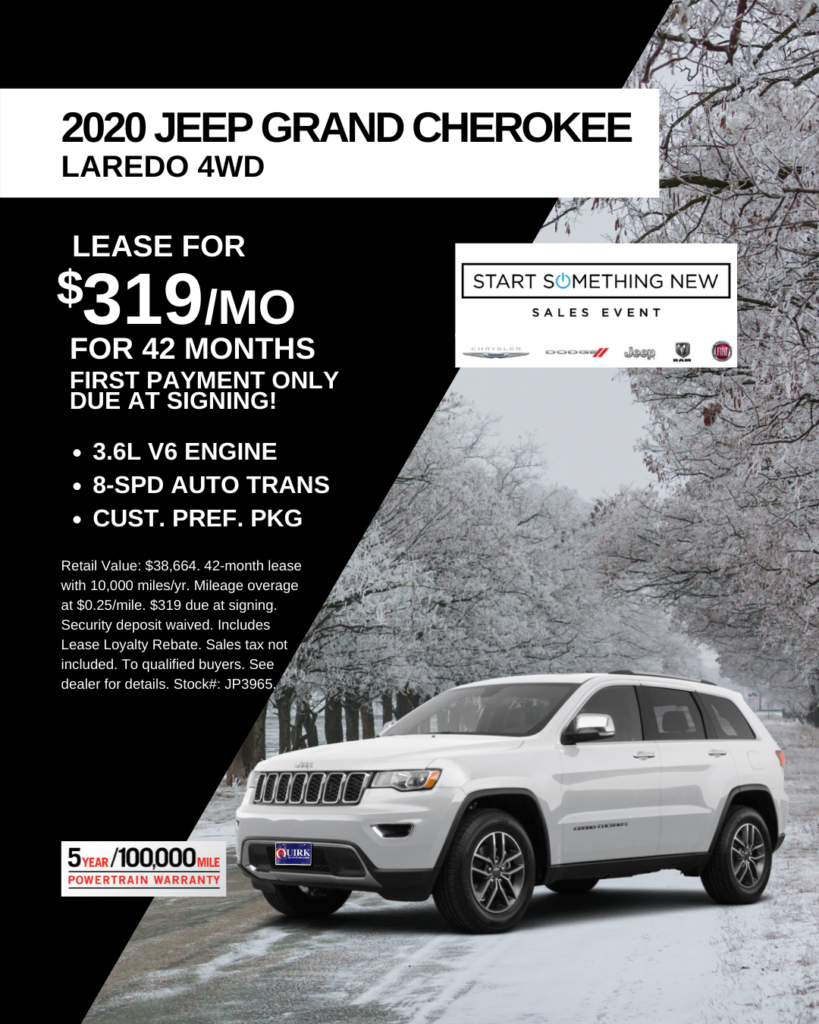 New 2020 Jeep Grand Cherokee Laredo E 4WD