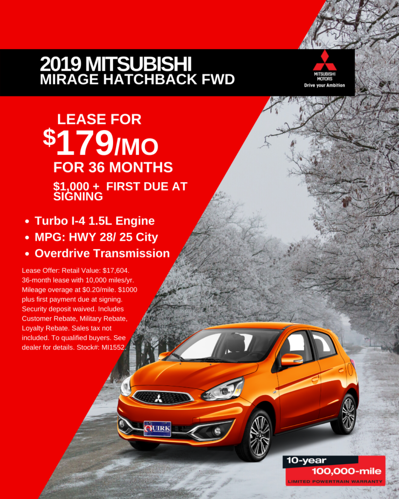 New 2019 Mitsubishi Mirage FWD Hatchback