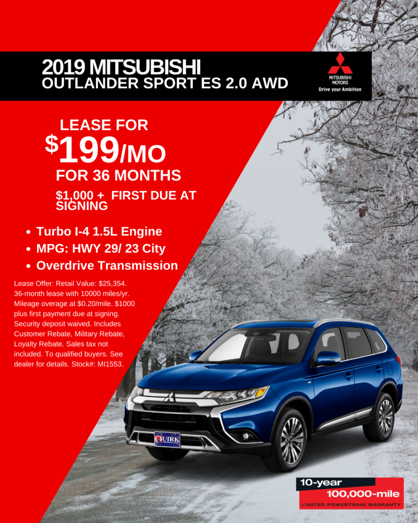 New 2019 Mitsubishi Outlander Sport 4WD