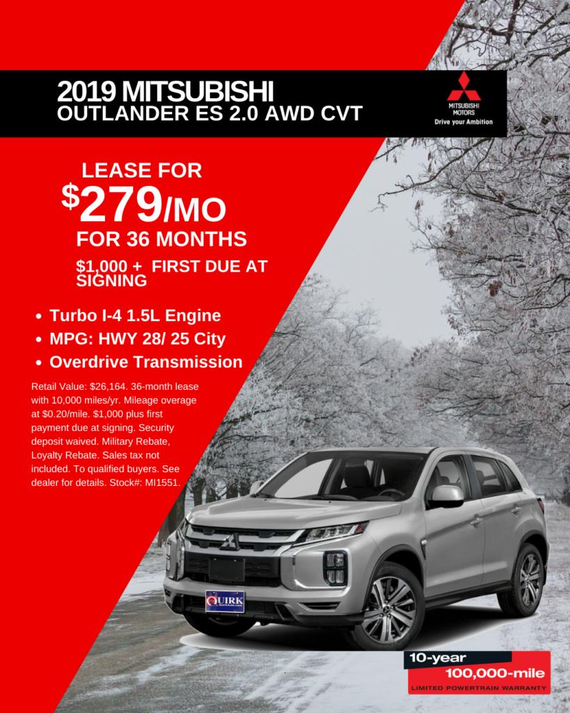 New 2019 Mitsubishi Outlander ES 4WD