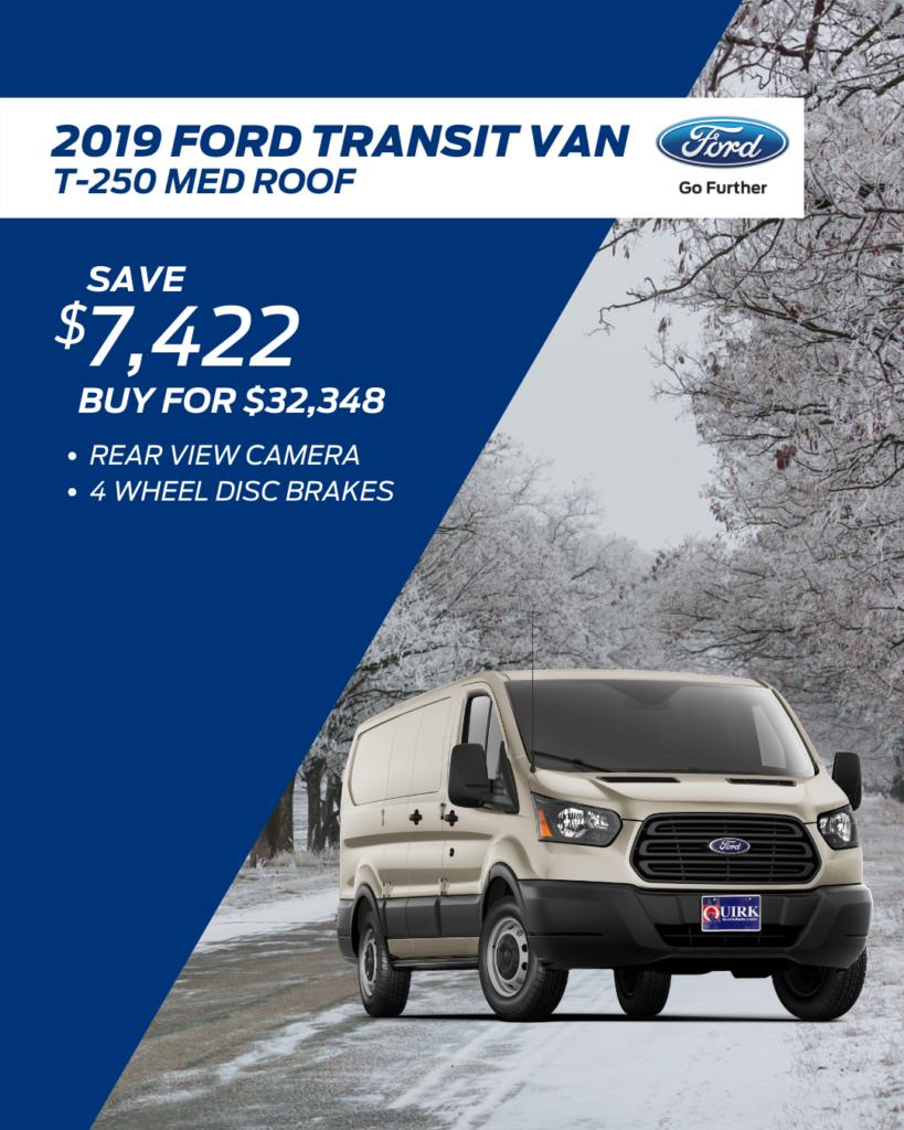 New 2019 Ford Transit Van RWD Full-size Cargo Van