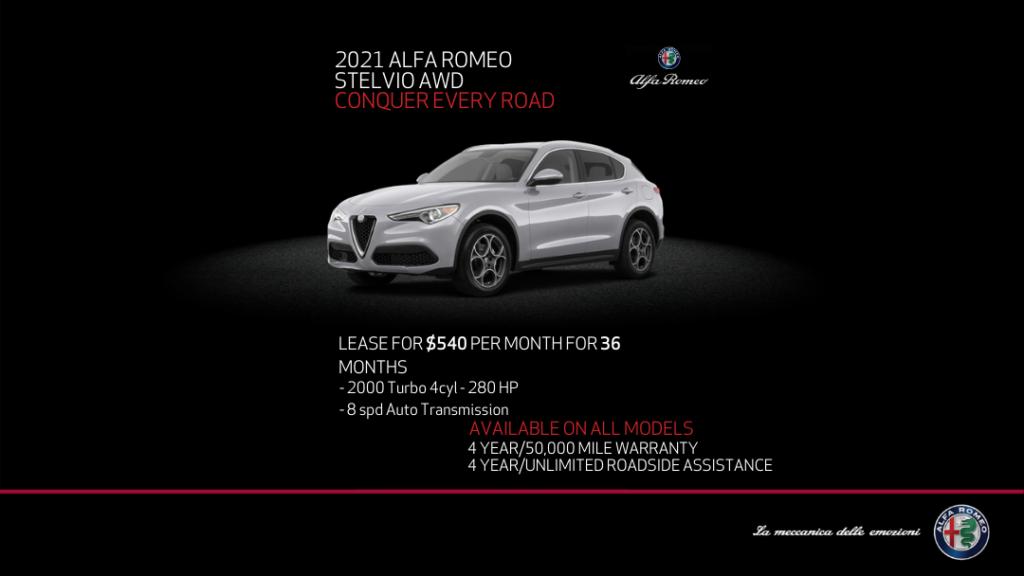 2021 Alfa Romeo Stelvio AWD SUV With Cold Weather Package