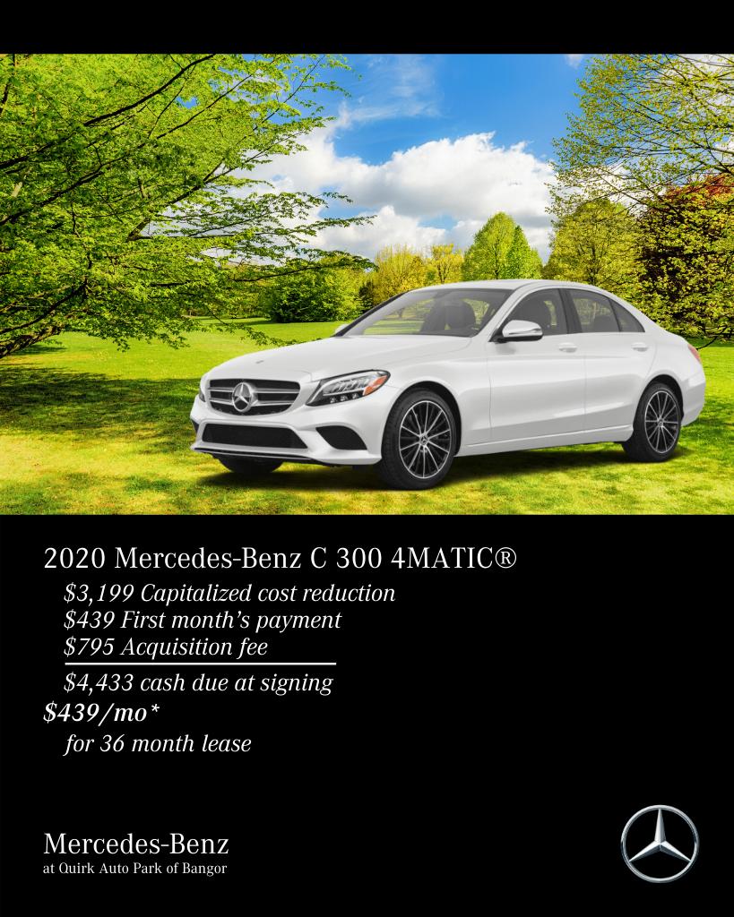 New 2020 Mercedes-Benz C-Class C 300 AWD 4MATIC®