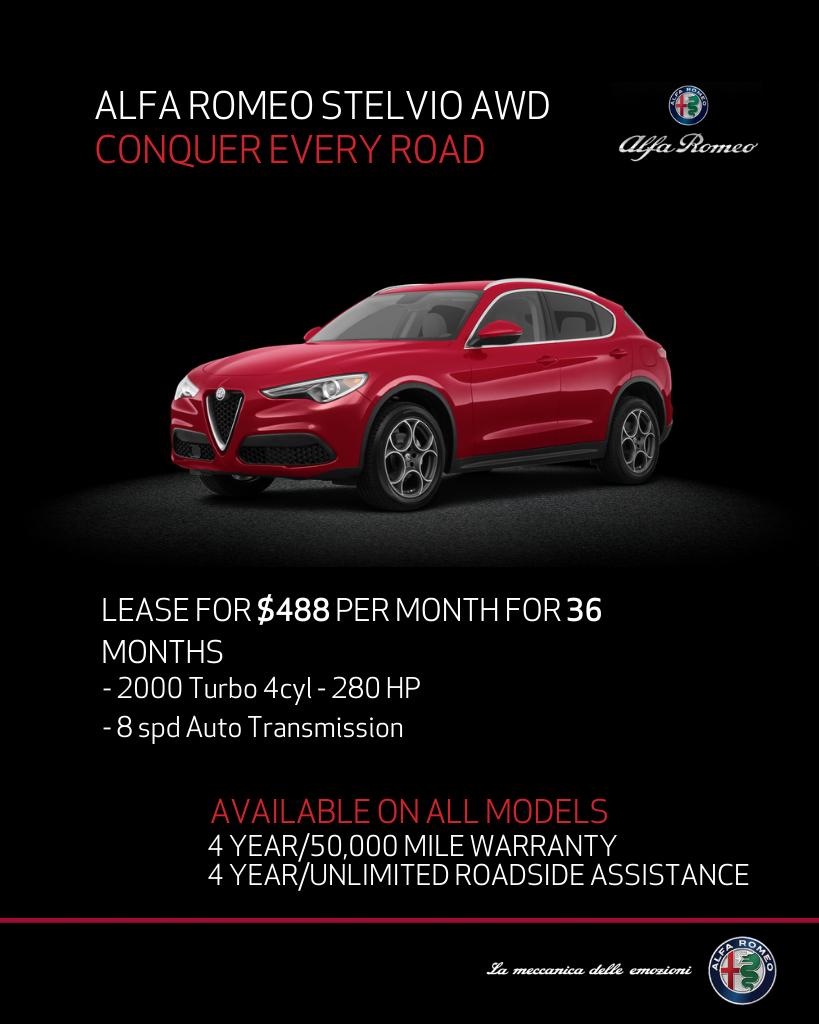 New 2020 Alfa Romeo Stelvio With Navigation & AWD