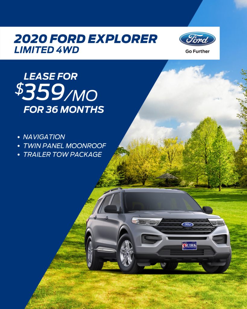 New 2020 Ford Explorer Limited With Navigation & 4WD