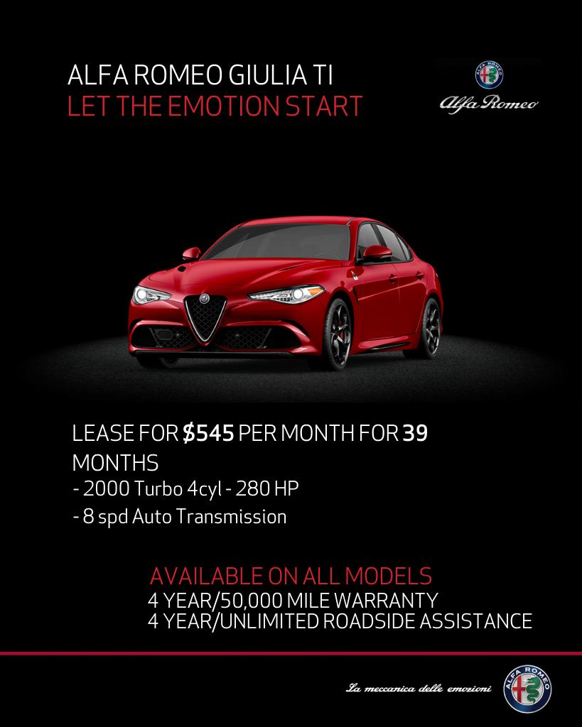 New 2019 Alfa Romeo Giulia Lusso TI With Navigation & AWD