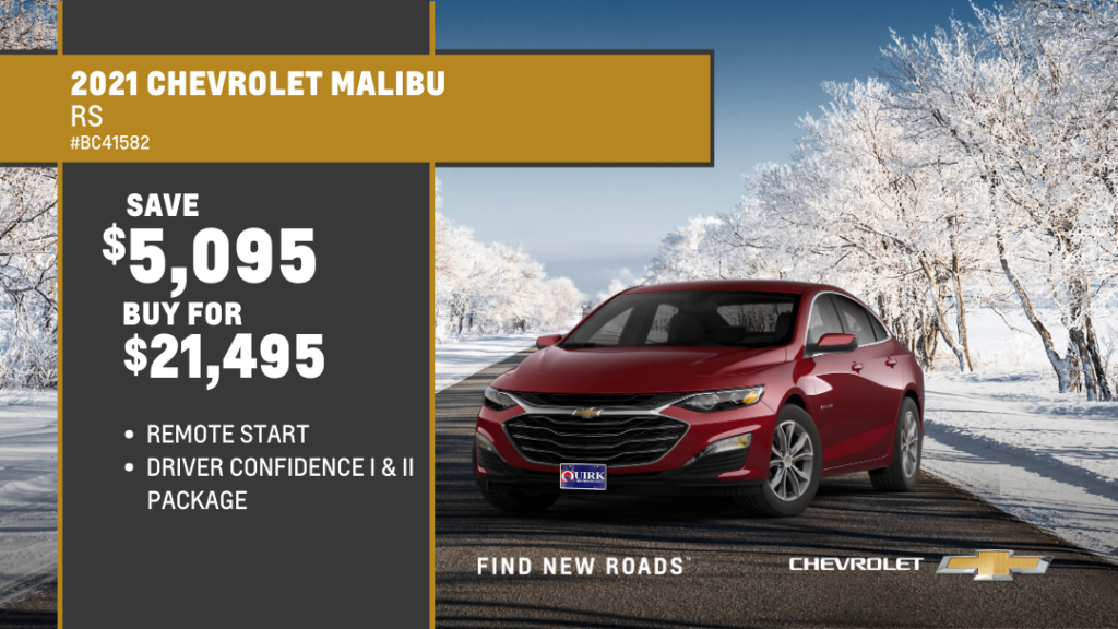 Save $5,095 and Buy 2021 Chevrolet Malibu 4Dr Sdn Rs For $21,495