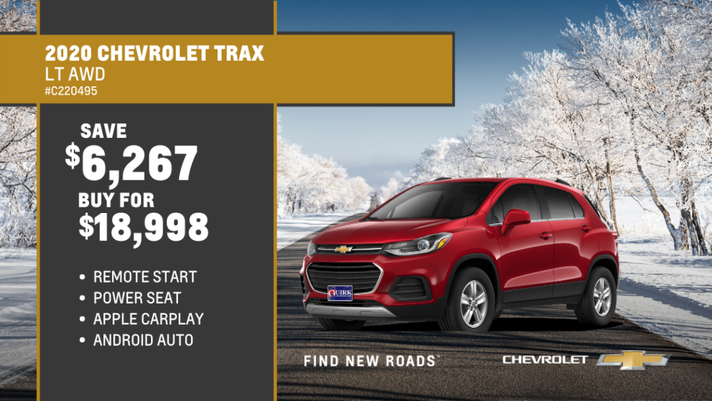 Save $6,267 and Buy 2020 Chevrolet Trax LT AWD SUV For $18,998