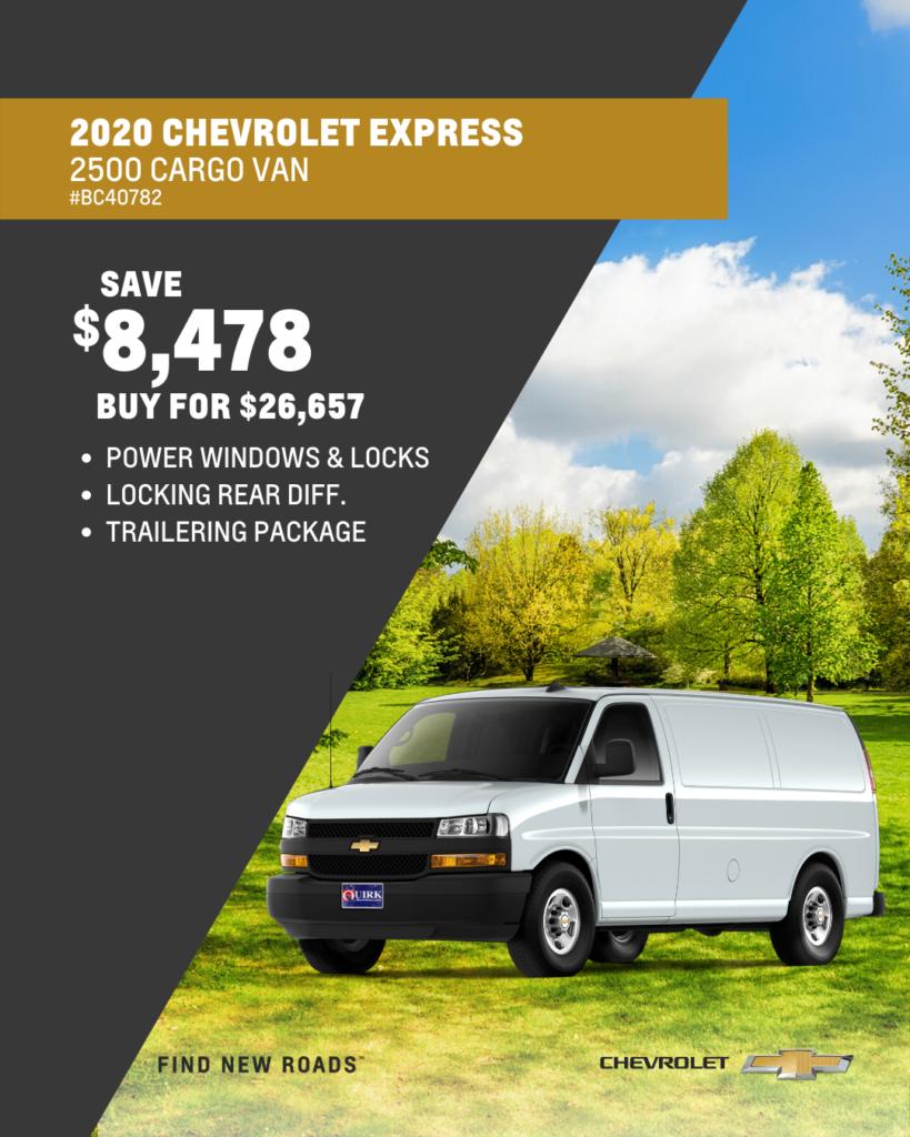 New 2020 Chevrolet Express Cargo Van RWD Full-size Cargo Van
