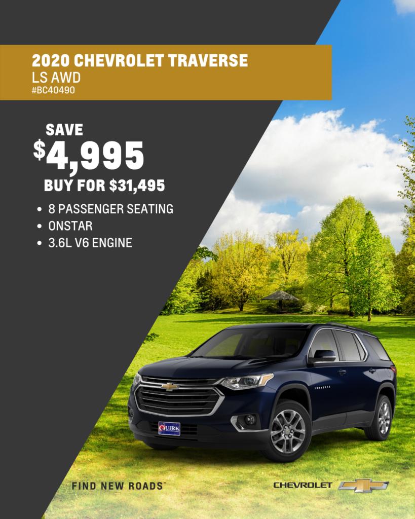 New 2020 Chevrolet Traverse LS AWD