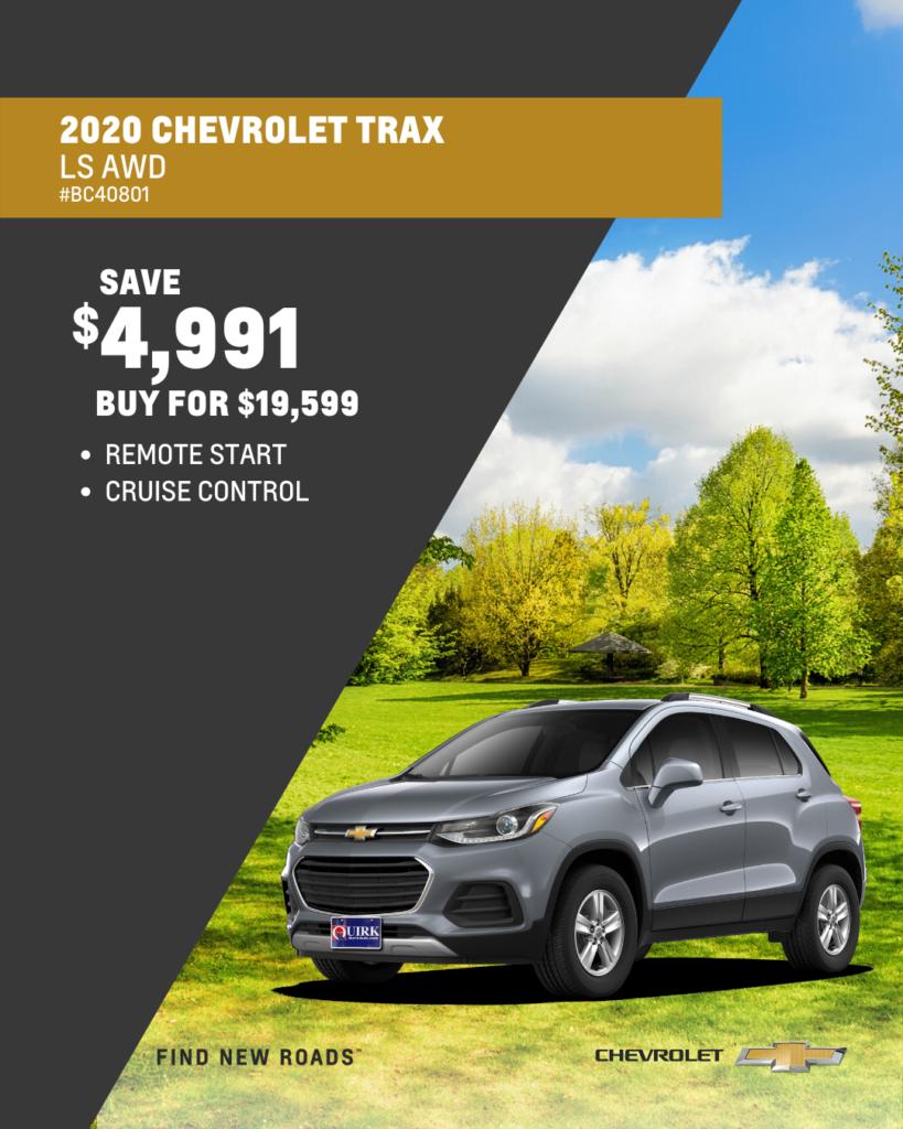 New 2020 Chevrolet Trax LS AWD