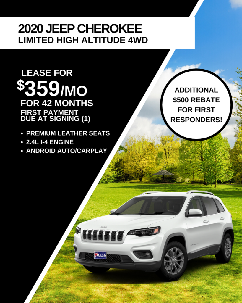 New 2020 Jeep Cherokee High Altitude With Navigation & 4WD