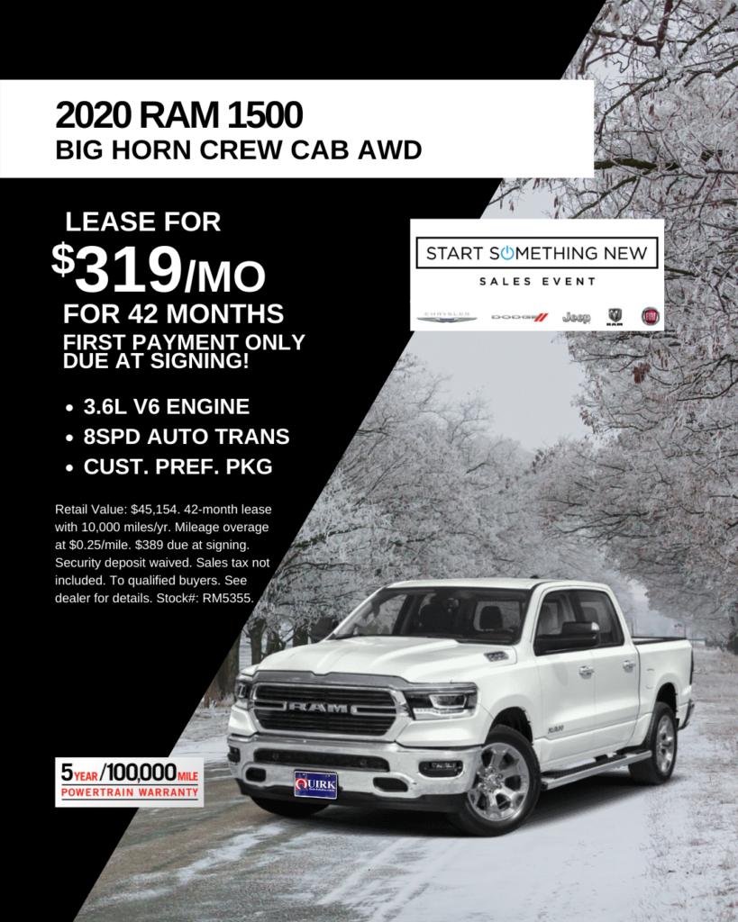 New 2020 Ram 1500 Big Horn Crew Cab 4WD