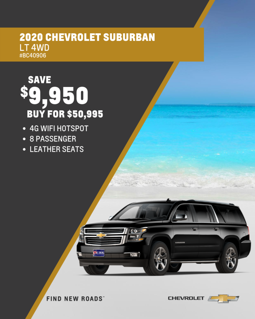 Save $9,950 and Buy 2020 Chevrolet Suburban LT 4WD SUV For $50,995