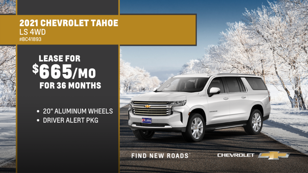 Lease 2021 Chevrolet Tahoe 4Dr 4WD For $665/month, $2,005 Due At Signing