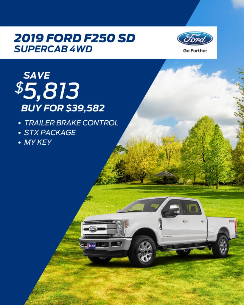 New 2019 Ford Super Duty F-250 SRW 4WD