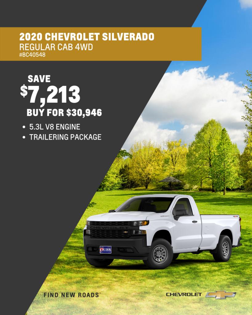 New 2020 Chevrolet Silverado 1500 Work Truck 4WD
