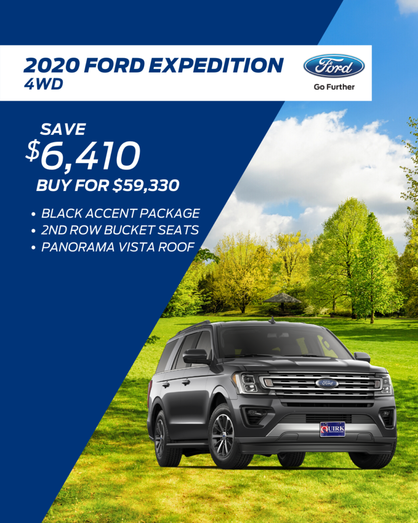 New 2020 Ford Expedition XLT With Navigation & 4WD