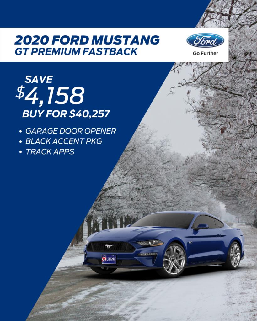 New 2020 Ford Mustang GT Premium RWD 2-Door