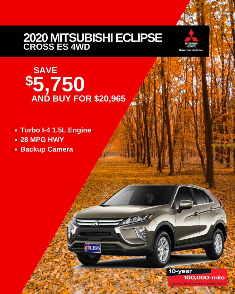 Save $5,750 and Buy 2020 Mitsubishi Eclipse Cross ES CVT AWD For $20,965