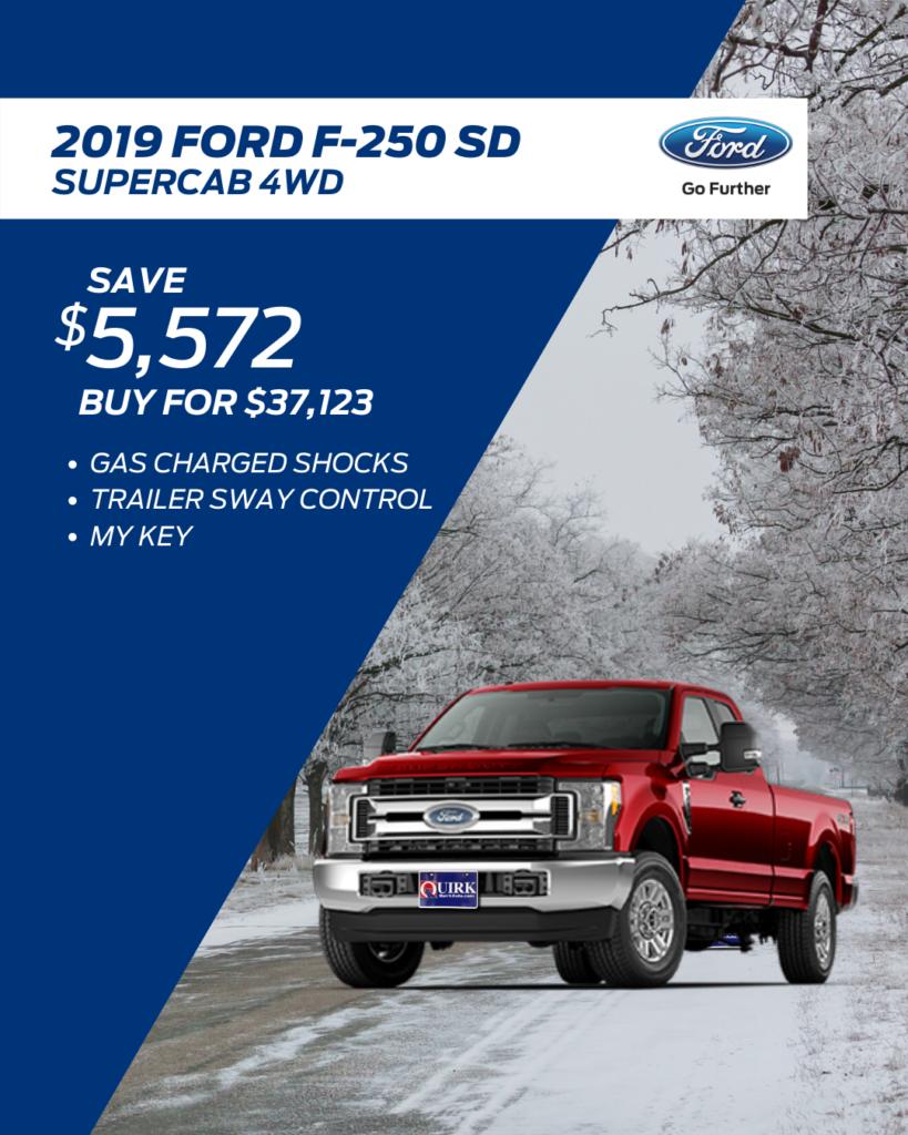 New 2019 Ford Super Duty F-250 SRW XL 4WD