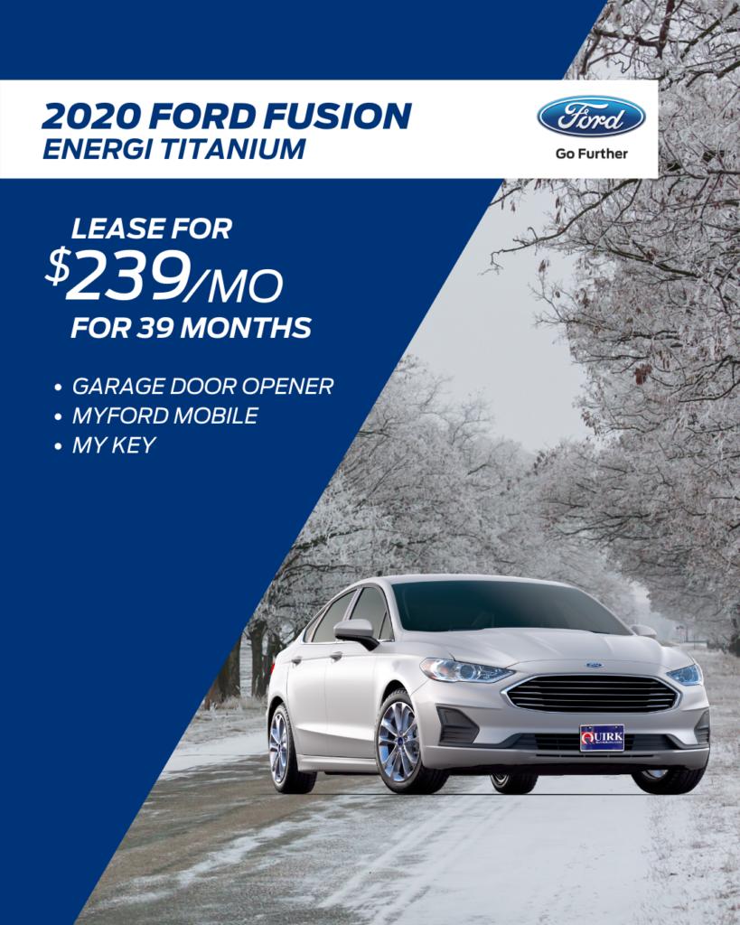 New 2019 Ford Fusion Energi Titanium Sedan