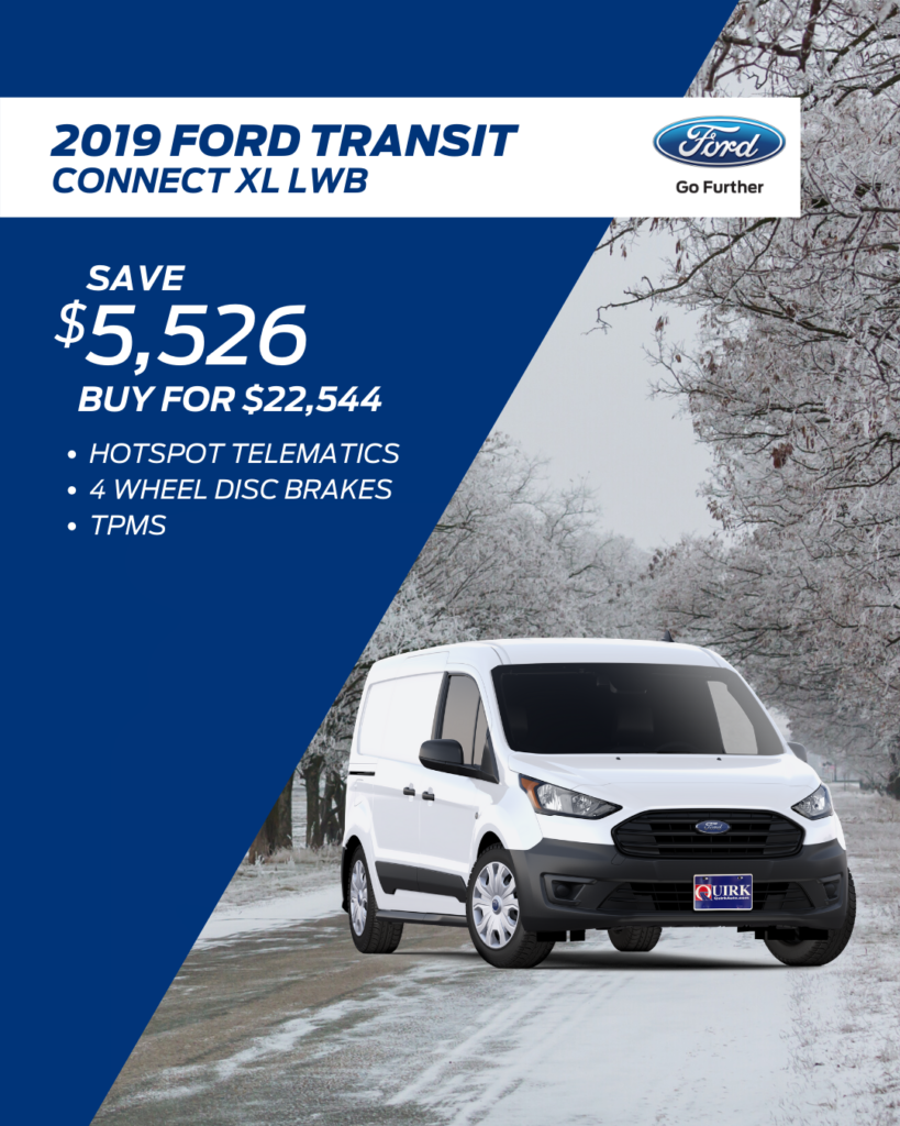 New 2019 Ford Transit Connect Van XL FWD