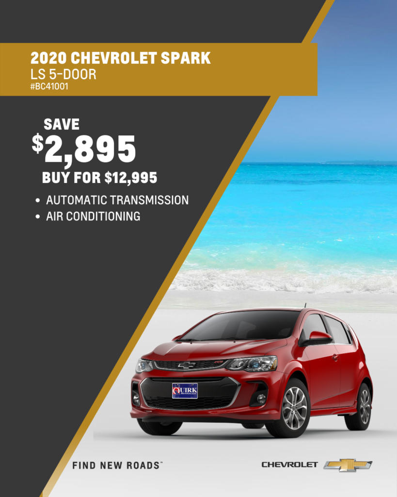 Save $2,895 and Buy 2020 Chevrolet Spark LS Hatchback FWD For $12,995