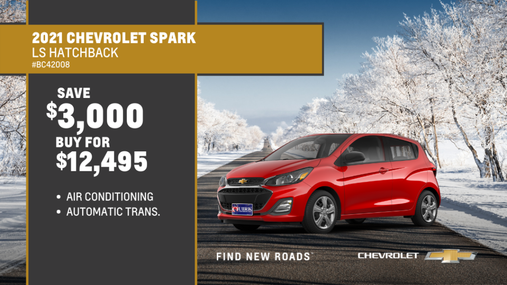 Save $3,000 and Buy 2021 Chevrolet Spark 5Dr Hb Ls For $12,495