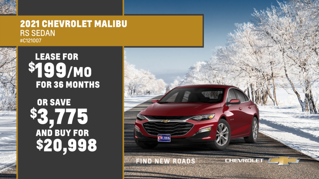 Save $4,497 and Buy 2021 Chevy Malibu RS Sedan FWD For $20,998
