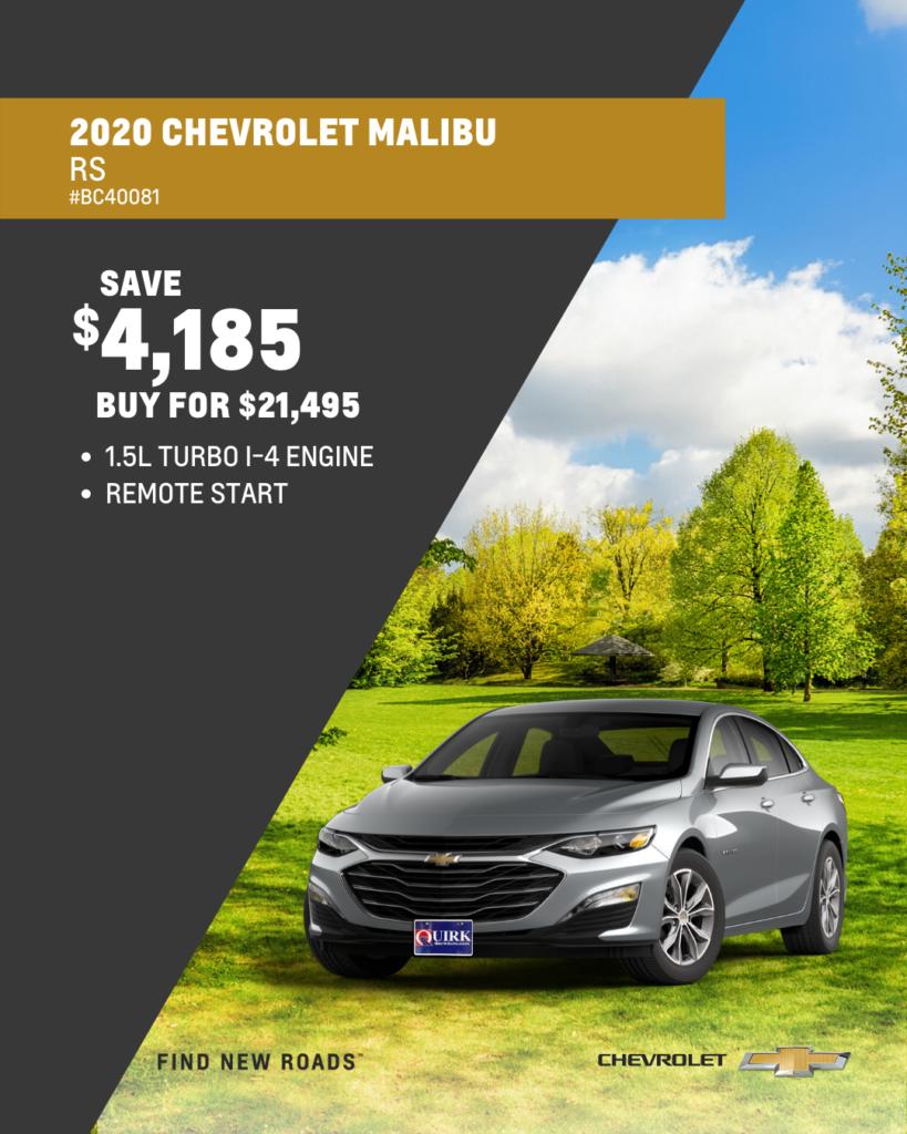 New 2020 Chevrolet Malibu RS FWD 4dr Car