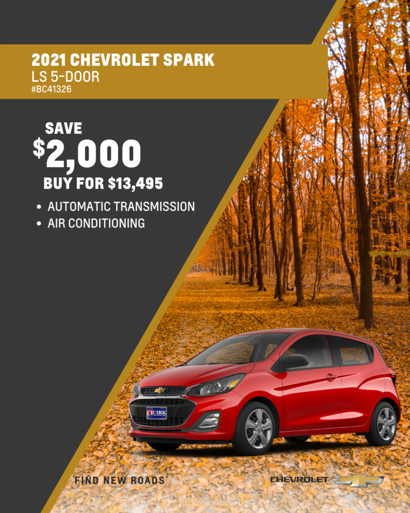 Save $2,000 and Buy 2021 Chevy Spark LS Hatchback FWD For $13,495